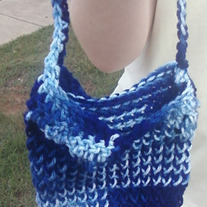 knit/crochet mash up small purse