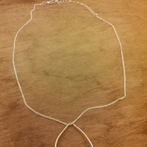 Silver Necklace with Silver Hoop Pendant
