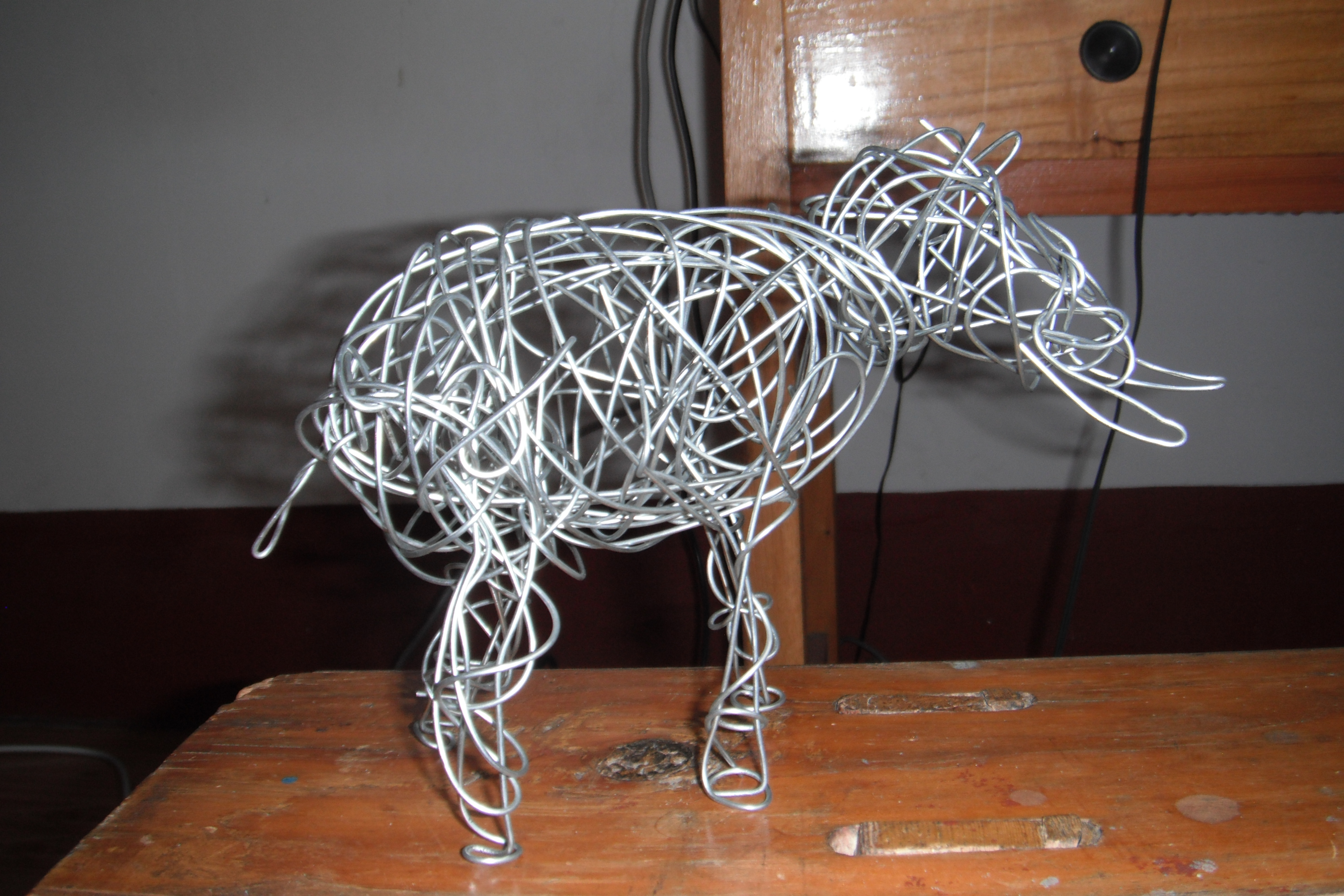 Holy Wire Sculpture Batman