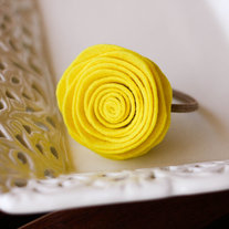 Yellow Felt Hair Elastic/Hair Accessory