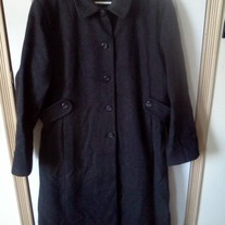 Andrea Brem Long Grey Wool Coat Sz 18