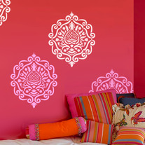 Moroccan Damask Modern Designer Allover Pattern Wall Stencil Home Decor