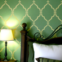 Lattice Morrocan Pattern Wall Stencil Home Decor