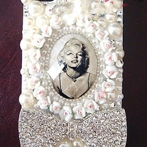 New Bling Marilyn Monroe Rhinestones iPhone 4/4s Case Design #4