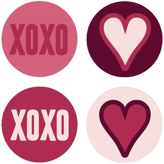 Fesselnd 80 Be Mine Valentine Digital Collage Sheet