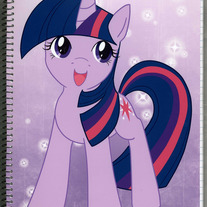 Notebook L - My Little Pony FiM: Twilight Sparkle (Fanart)