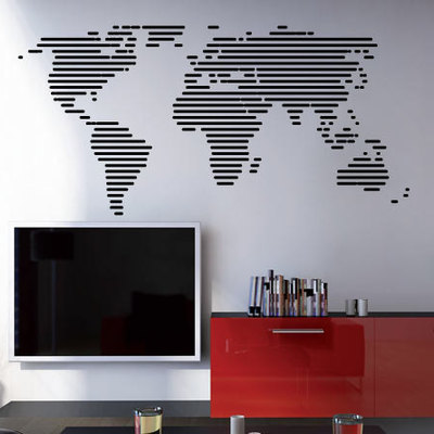 World map outlines with continents decal moonwallstickers lines world map decal for housewares thumbnail 5 gumiabroncs Image collections