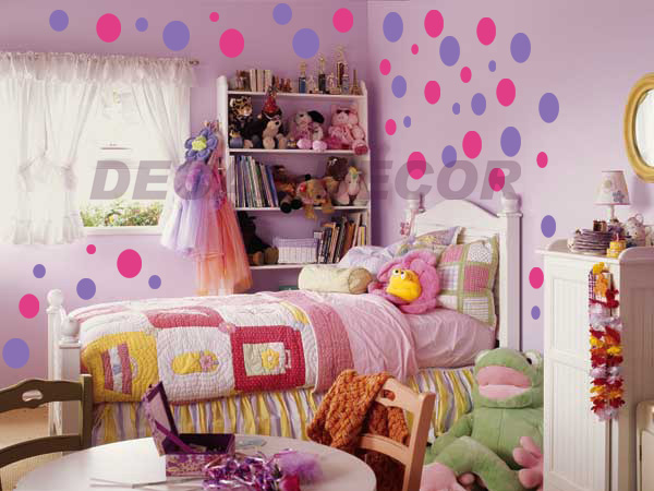 Polka Dot Wall Decals For Kids Rooms : wall art 216 polka dots circles vinyl wall decal sticker wall decor ...