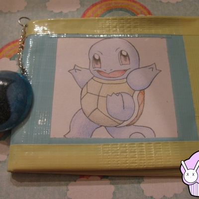 Duct tape pokemon wallet - squirtle