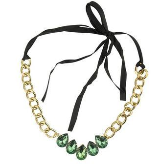Emerald Droplet Statement Necklace