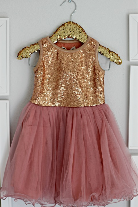 Sequined Bronze Amp Dusty Rose Tulle Dress On Storenvy