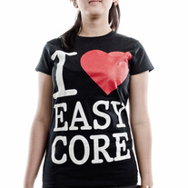 I love Easycore - Girly  (Black)