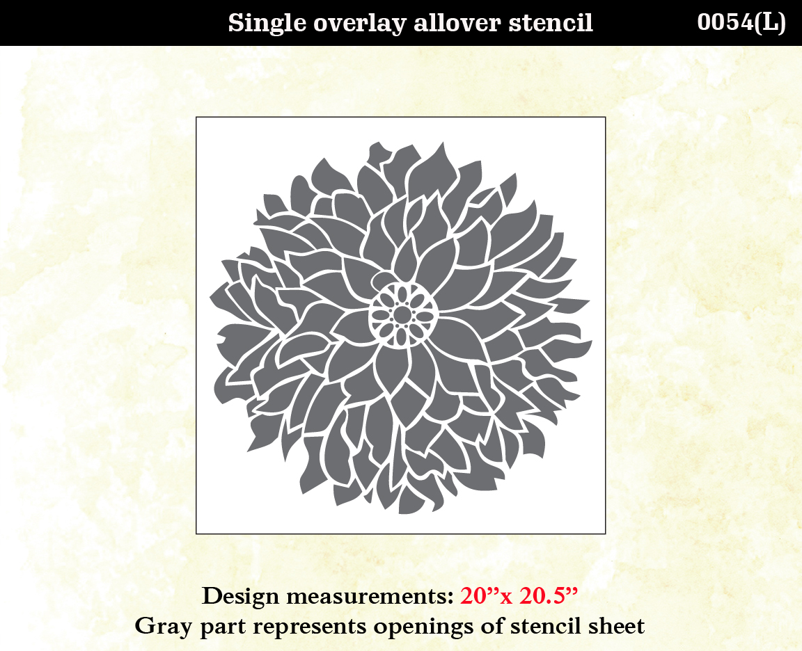 Large Flower Stencils : Large flower wall stencils imgkid the image