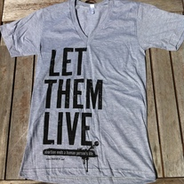 """Let Them Live"" Gray V-Neck"