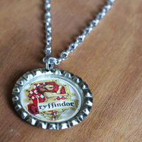 Gryffindor Harry Potter Inspired Bottlecap Necklace