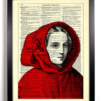 Image of Little Red Riding Hood, Vintage Dictionary, 8 x 10