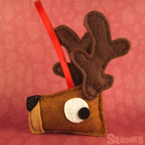 Christmas Ornament, Felt Reindeer, Felt Animal - Cupid the Reindeer