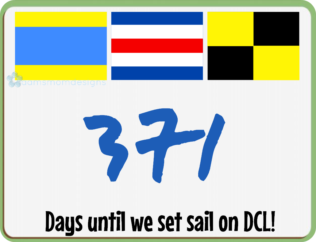 Dcl Nautical Flag Countdown Dry Erase Board On Storenvy