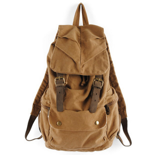 Rugged canvas backpack mens with leather trims · Vintage rugged ...