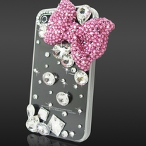 Crystal Rhinestone Bow Case (iPhone 4 4s)