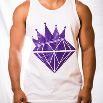 Diamond King Tank (White/Purple)