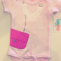 SaraKety Pink High-Fashion Onesie
