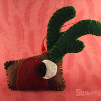 Felt Reindeer Ornament, Felt Christmas Ornament- Yule the Reindeer