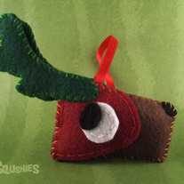 Felt Reindeer Ornament, Felt Christmas Ornament- Holly the Reindeer