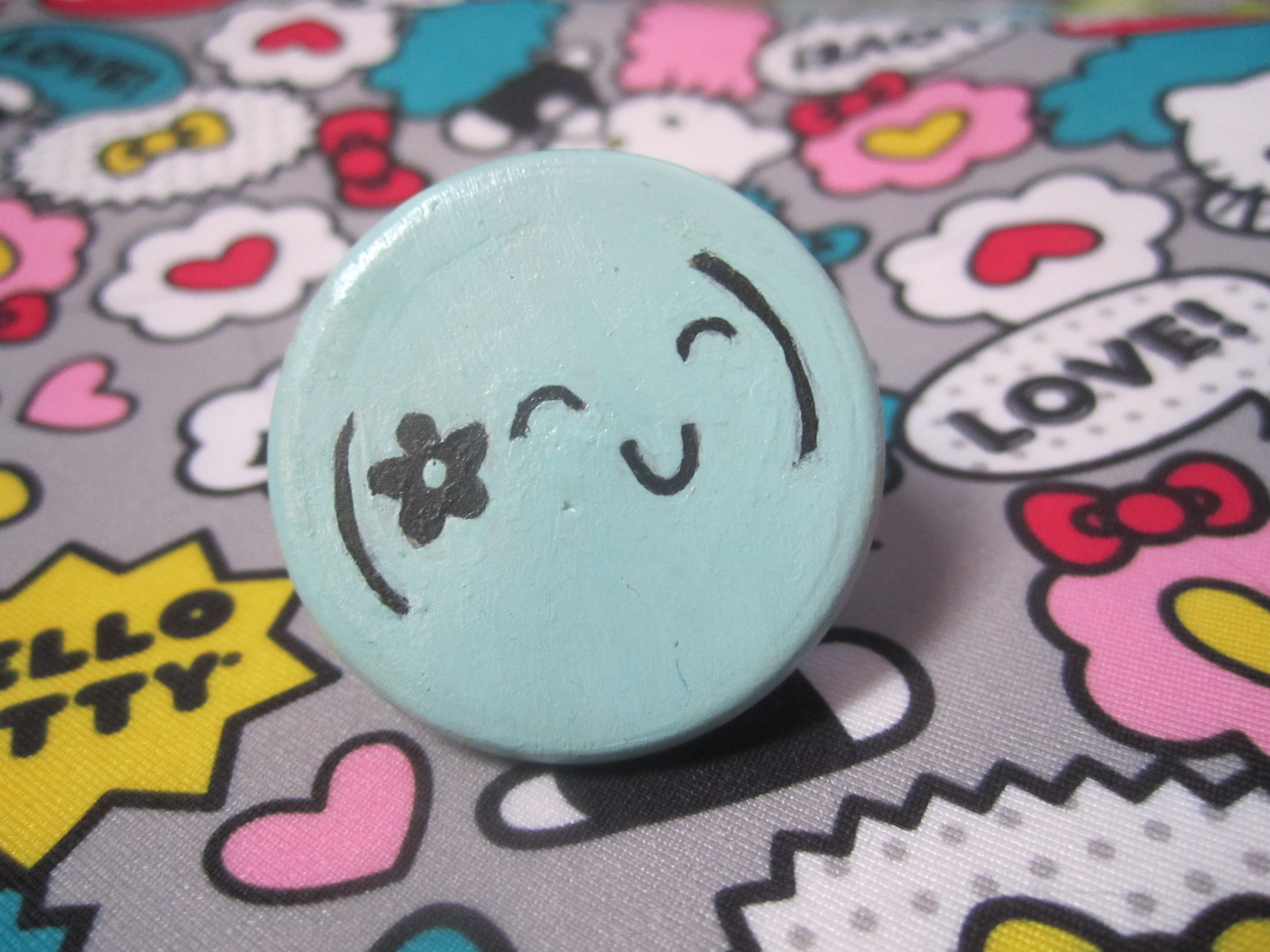 thebiscuitbar Flower Japanese Emoticon Ring