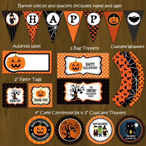 halloween party printable package for halloween parties or birthdays
