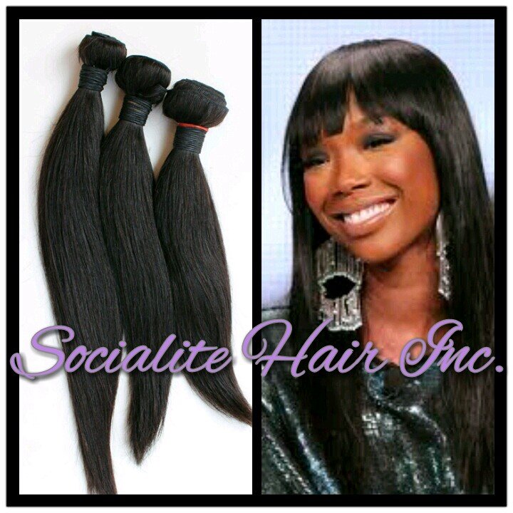 Home - Straight Virgin Brazilian Hair- 3 Bundles  14 16 18 quot  Brazilian Straight Hair Bundles