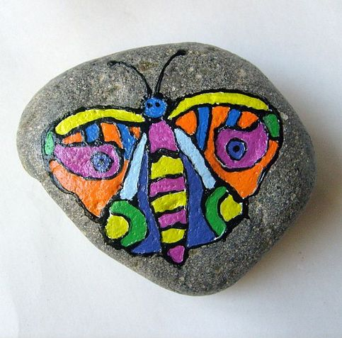 Hand Painted Rocks Butterfly Painted Rock Free Usa