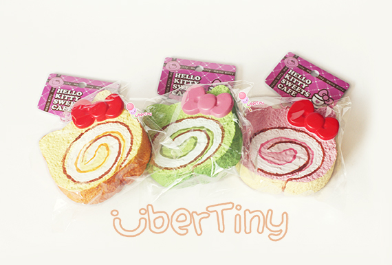 Rare* Jumbo Hello Kitty Cream Roll Cake Squishy (licensed) ? Uber Tiny ? Online Store Powered by ...