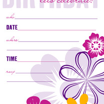 Birthday fill-ins | Pink Flowers