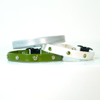 Colorful Cat Collar w. Rhinestone Accents