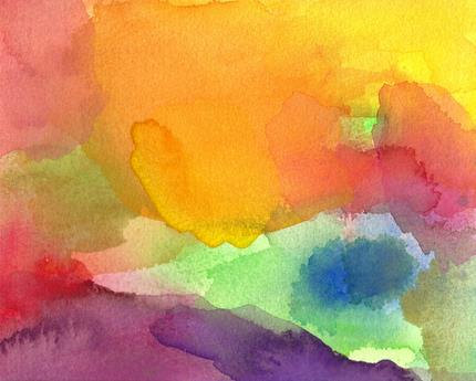 Images Of Abstract Watercolor Paintings Paradise abstract art print