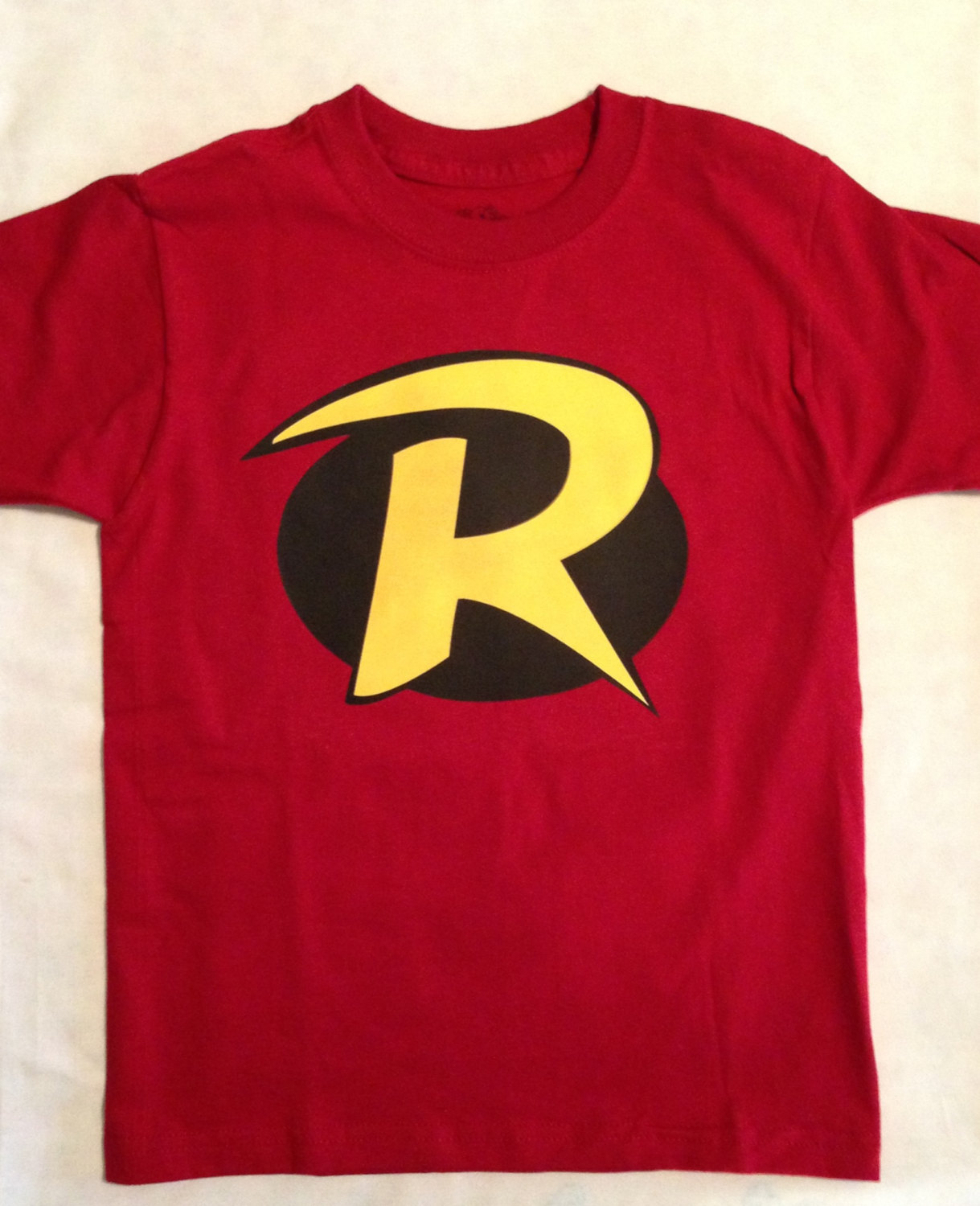 robin t shirt for children and toddler kids batman and. Black Bedroom Furniture Sets. Home Design Ideas