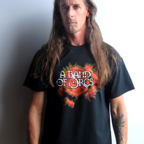 Burning Shield & Axe Logo T-Shirt