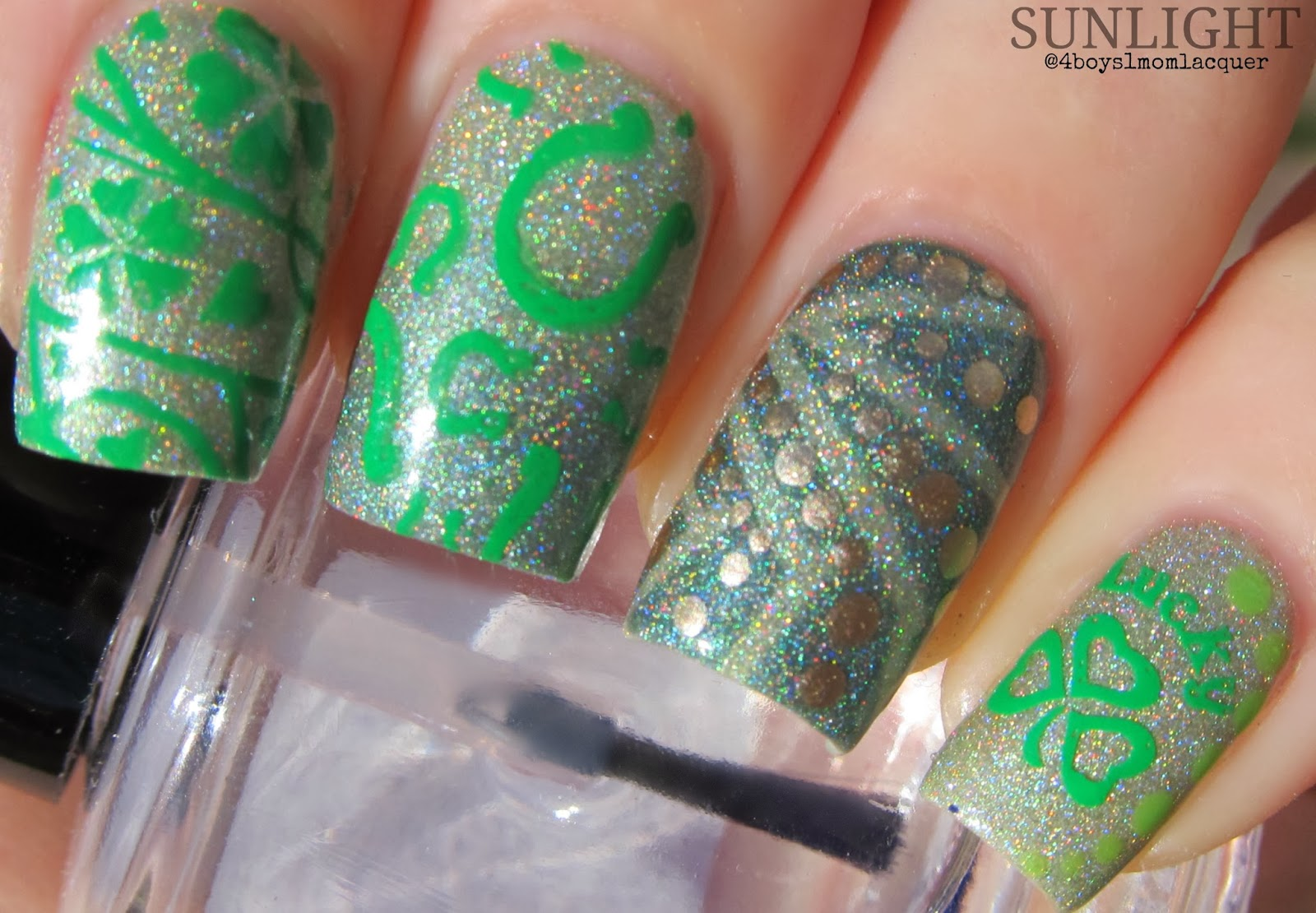 Magically Delicious - Custom Dark Green Holographic Glow in the Dark ...