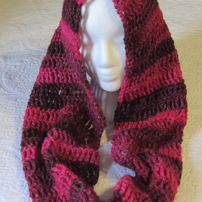 Crochet Cowlhooded Scarfinfinity Scarf Made With Red Heart