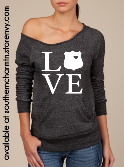 Law enforcement love leo slouchy sweater 183 southern charm designs
