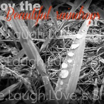 Enjoy the beautiful raindrops of life 5x7 print - 4