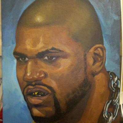 Painting of ufc fighter - quinton rampage jackson