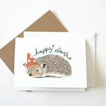 Happy Days Hedgehog Card