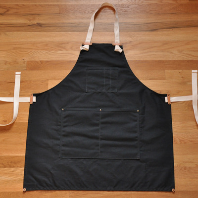 Apron - black waxed canvas