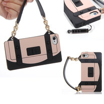 Black and Nude Handbag Case (iPhone 4 4s)