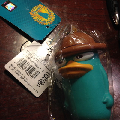 Perry the platypus squishy
