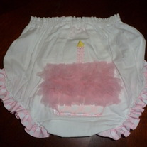 MUDPIE BIRTHDAY BLOOMERS SIZE 12-18 MTHS