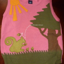 PINK GAP KIDS SWEATER VEST SIZE S-6/7