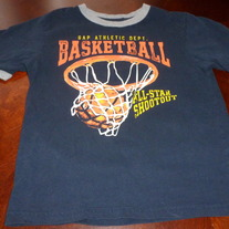 GAP KIDS NAVY BLUE BASKETBALL SHIRT SIZE XS (4-5)